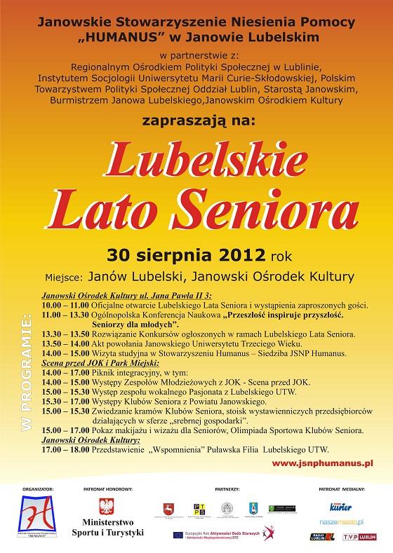 Plakat Lubelskie Lato Seniora 2012
