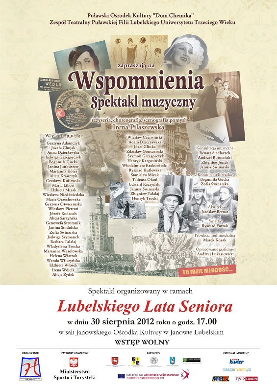 Plakat Wspomnienia Lubelskie Lato Seniora 2012